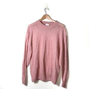 Aritzia | Wilfred Pink Thin Long Sleeve Sweater